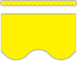 TCR4175 Yellow Scalloped Border Trim Image