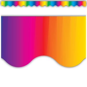 TCR4177 Multicolor Scalloped Border Trim Image