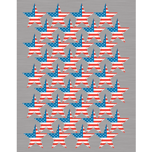TCR4210 Large Flag Foil Stars Stickers Image