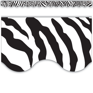 TCR4214 Zebra Scalloped Border Trim Image