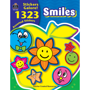 TCR4223 Smiles Sticker Book Image
