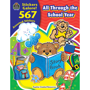 TCR4229 All Through the School Year Sticker Book Image