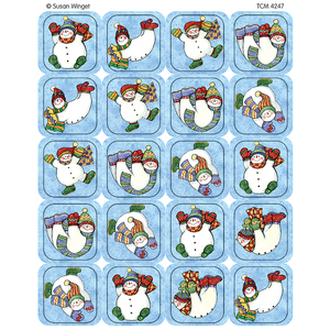 TCR4247 Snowmen Stickers from Susan Winget Image
