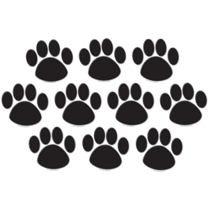 TCR4277 Black Paw Prints Accents Image