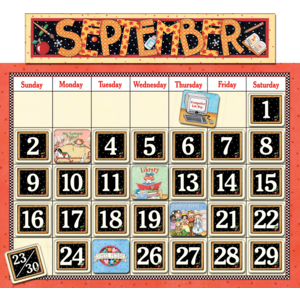 TCR4314 Classroom Calendar Bulletin Board from Mary Engelbreit Image
