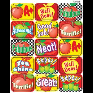 TCR4336 Apples Motivational Jumbo Stickers Image