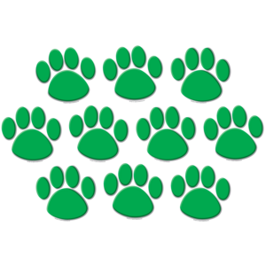 TCR4387 Green Paw Prints Accents Image