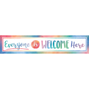 TCR4394 Watercolor Everyone is Welcome Here Banner Image