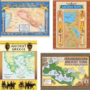 TCR4422 Ancient Civilizations Bulletin Board Display Set Image