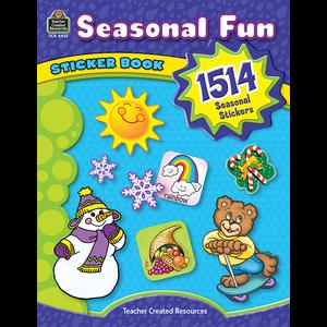 TCR4435 Seasonal Fun Sticker Book Image