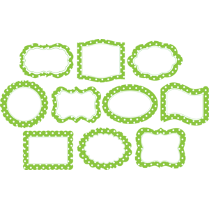TCR4475 Lime Polka Dots Frames Accents Image