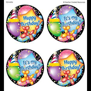 TCR4496 Happy Birthday Wear 'Em Badges Image