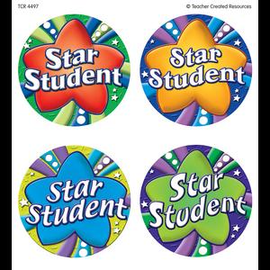 TCR4497 Star Student Wear 'Em Badges Image