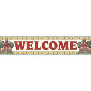 TCR4517 School Days Welcome Banner from Debbie Mumm Image
