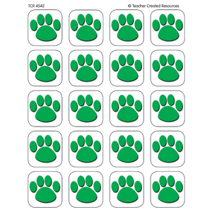 TCR4542 Green Paw Prints Stickers Image