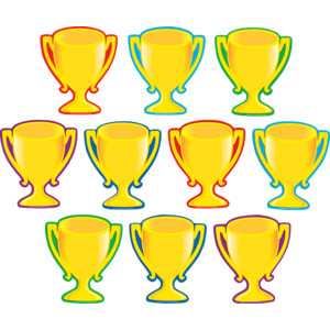 TCR4569 Trophy Cups Accents Image