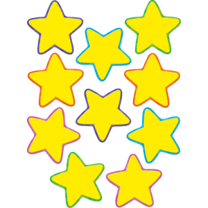 TCR4591 Yellow Stars Accents Image
