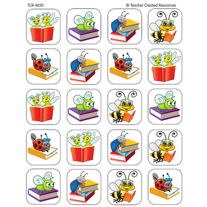 TCR4650 Book Bug Stickers Image