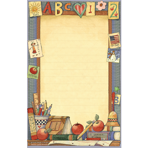 TCR4722 School Time Notepad from Susan Winget Image
