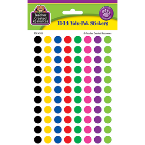 TCR4743 Colorful Circles Mini Stickers Valu-Pak Image