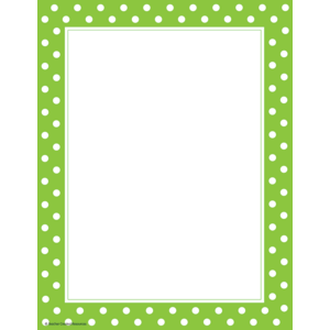 TCR4765 Lime Polka Dots Computer Paper Image