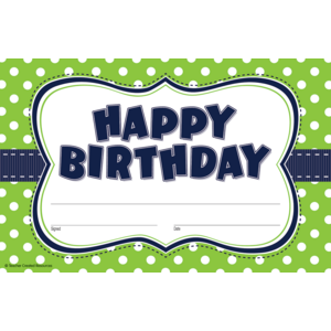 TCR4771 Lime Polka Dots Birthday Awards Image