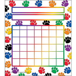 TCR4773 Colorful Paw Prints Incentive Charts Image