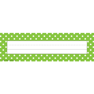 TCR4798 Lime Polka Dots Flat Name Plates Image