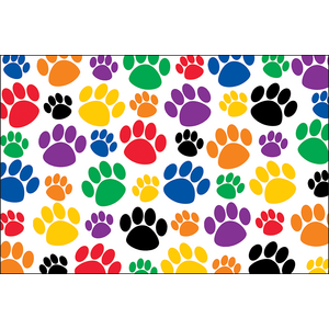 TCR4799 Colorful Paw Prints Postcards Image