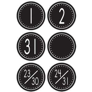 TCR4878 Black/White Crazy Circles Calendar Days Image