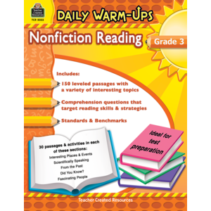 TCR5033 Daily Warm-Ups: Nonfiction Reading Grade 3 Image