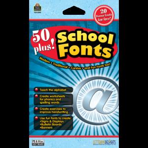 TCR5095 50 Plus School Fonts Image