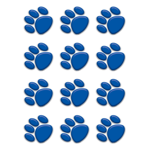 TCR5117 Blue Paw Prints Mini Accents Image