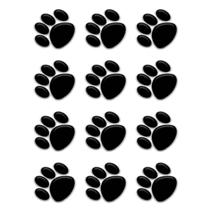 TCR5118 Black Paw Prints Mini Accents Image