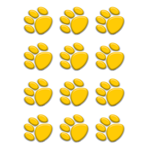 TCR5120 Gold Paw Prints Mini Accents Image