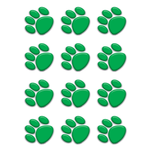 TCR5121 Green Paw Prints Mini Accents Image