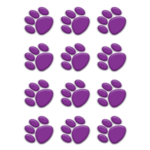 TCR5123 Purple Paw Prints Mini Accents Image