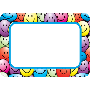 TCR5172 Happy Faces Name Tags/Labels Image