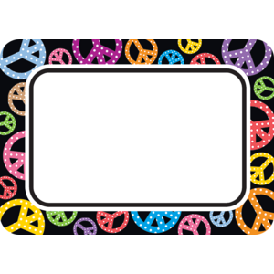 TCR5175 Peace Signs Name Tags/Labels Image