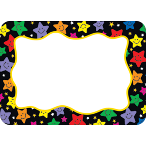 TCR5177 Happy Stars Name Tags/Labels Image
