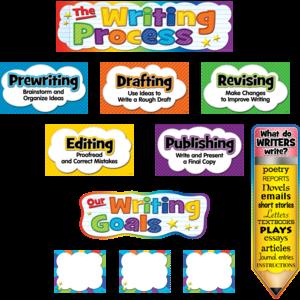TCR5183 The Writing Process Mini Bulletin Board Image