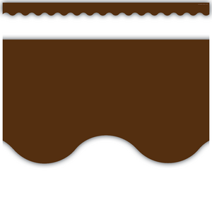 TCR5207 Chocolate Scalloped Border Trim Image