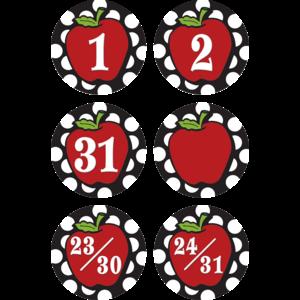 TCR5212 Circles & Apples Calendar Days Image