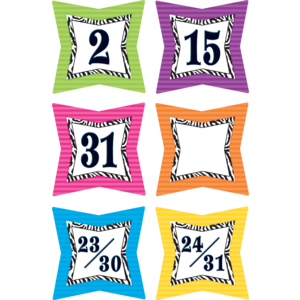 TCR5213 Colorful Zebra Prints Calendar Days Image