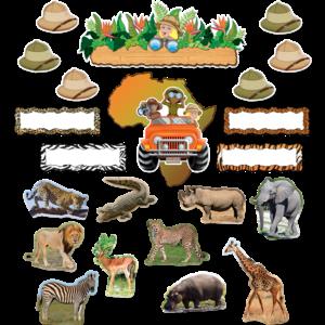 TCR5221 Safari Bulletin Board Display Set Image