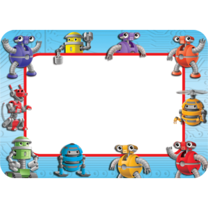 TCR5248 Robots Name Tags/Labels Image