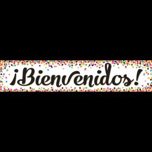 TCR5324 Confetti Bienvenidos Banner Image