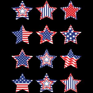 TCR5336 Patriotic Stars Mini Accents Image