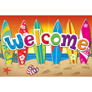 TCR5363 Surf's Up Welcome Postcards Image