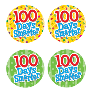 TCR5393 100 Days Smarter Wear 'Em Badges Image
